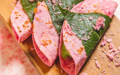 まるで和菓子のような桜餅風「桜タコス」販売開始!! 3/1~